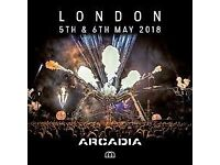Arcadia London residents festival tickets for Sunday 6th May