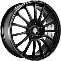 18inch rim and tire package!! full set!!Velocity 257 gloss black