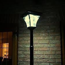 The solar lamp post, designed to last through winter.