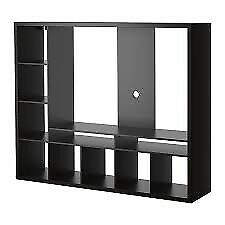 Ikea lappland tv media unit black brown