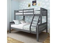 Branded Trio wooden bunk bed available fast delivery⚡🍑