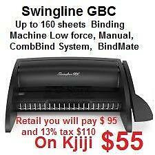 Up to 160 sheets Swingline GBC Binding Machine Low force, Manual, CombBind System, BindMate
