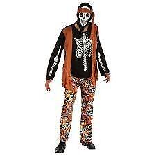 ZOMBIE DAY OF THE DEAD HIPPIE SIZE M / L / XL SAYS IT FITS UP TO A 44 INCH CHEST