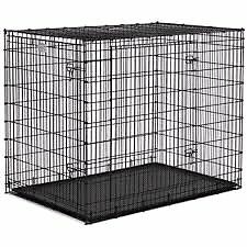 LARGE FOLDABLE WIRE DOG KENNEL