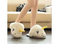 'UNICORN' SLIPPERS, QUALITY ITEM, LOVELY, ALL SIZES, WHITE , COLLECTION/DELIVERY. TEL.07803366789
