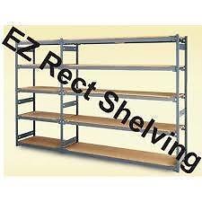 Shelving, E-Z-Rect, Trimline, Chromate, Mobile Shelving