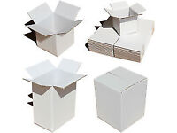 BRAND NEW Cardboard boxes with dividers(optional) white, single wall, for moving and storage.