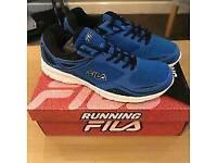 Size 6&7 FILA SPEEDWAY ROYAL MENS RUNNING TRAINER ROYAL BLUE