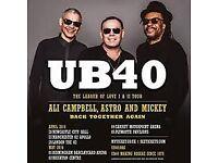 2 X UB40 tickets. Manchester 17/12/17
