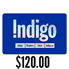 $120 gift card for Indigo / Chapters / Coles