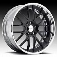 """20"""" EAGLE ALLOY 227 WHEELS GLOSS BLACK WITH MACHINED LIP $800"""