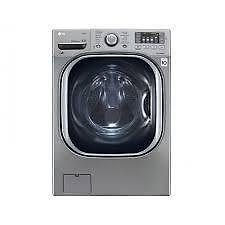 Laveuse électrique LG 27 po,  5.2 pi.cu., Chargement frontal,  Vapeur,  Couleur Graphite, (SKU: 1442), WM4270HVA