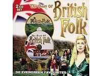 Various Artists : The Best of British Folk CD (2004) Double CD.