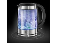 RUSSELL HOBBS 21600 Illuminating Glass Jug Kettle - Stainless Steel