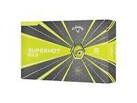 callaway superhot bold golf balls pack of 15 yellow and 15 red BNIB