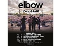 Elbow - SSE Hydro Glasgow Friday 2/3/18 + hotel