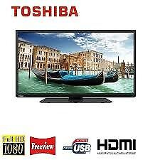 TOSHIBA 40 INCH LED FULL HD TV WITH BUILT IN FREEVIEW**DELIVERY IS POSSIBLE**