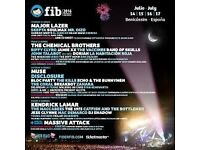 Full weekend (thursday to monday) BENICASSIM FESTIVAL ticket, msg for details and price flexible