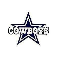 Dallas Cowboys Decals FootballNFL EBay - Cowboy custom vinyl decals for trucks