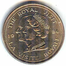 1984 Windsor Ontario Queens  Royal Visit coin Windsor Region Ontario image 1