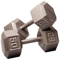 Hex Dumbells 50 lbs