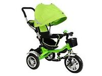 Road-Runner Premium 4 in1 Kids Children Trike Tricycle 3 Wheel Ride Bike Green, £50