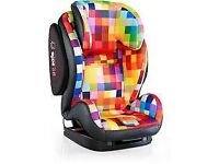 New Boxed and Sealed Cosatto Hug ISOFIX Group 1/2/3 Baby / Child Car Seat With 5 Point Plus Pixelate