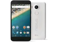 LG NEXUS 5X 32GB IN WHITE MOBILE PHONE*** UNLOCKED*** LIKE NEW
