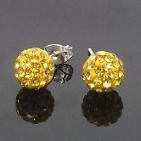 Disco ball Swarovski crystal elements stud earrings $8/pair