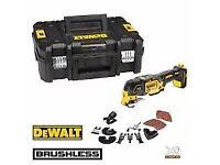 Dewalt Cordless 18v Multi Tool - Body Only C/W Accessories - Not Bosch Milwaukee Makita