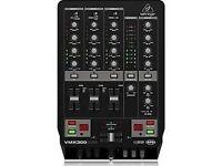 behringer vmx300 DJ mixer 3 channel