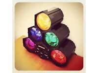 Party Lights that work with music. Can be hanged. 6 DJ ROULETTE DISCO POD FLASHING spotlights