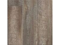 8MM Smoked pine delivered fitted with underlay beading and door bar 20m2 £320!!!!!!