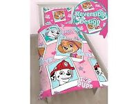 (Check Our Other Adverts) [BRAND NEW] - Paw Patrol Single Reversible Duvet Sets - PINK
