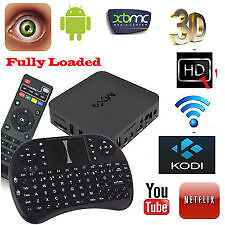 Android TV BOX with KEYBOARD REMOTE INCLUDED