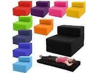 Single Chair Bed Z Guest Fold Out Futon Sofa Chairbed Lounge.