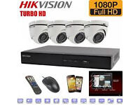 HIKVISION TURBO cctv camera SYSTEM with 4 dome cctv cameras supplied and fitted offer £650