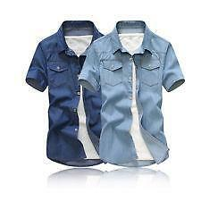 de4502296d Men s Short Sleeve Denim Shirt