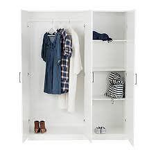 IKEA Wardrobe DOMBÅS White 140x181 cm x2