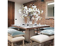 OKA Dining TABLE rrp £2,355 - 1 mnth old *BARGAIN* *Delivery may be poss