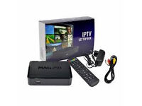 new system mag250 iptv box with 12 month gift hd progrms not a skybox