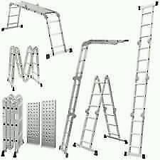 Aluminium Multifunction Ladder with Workstation Platforms. Hardly used