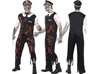 ZOMBIE POLICEMAN / WALKING DEAD FANCY DRESS OUTFIT SIZE M GREAT FOR PARTY OR STAG DO