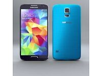 SAMSUNG GALAXY S5 16 GB BLUE FACTORY UNLOCKED 60 DAYS WARRANTY VG CONDITION LAPTOP/PC USB LEAD