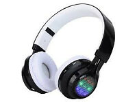 headphones led flash bluetooth wireless glow in the dark led
