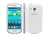 White Unlocked Samsung Galaxy S3 mini Quadband NFC Smartphone with screen protector. Used. A1 screen