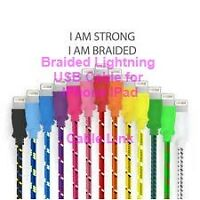 Braided Fabric Lightning USB Data Sync Charger Cable IPhone Ipad