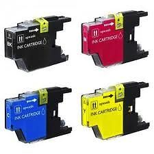 Brother LC61/65 New Compatible Ink Cartridges B/C/M/Y Full Set