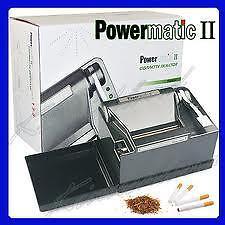 NEW-POWERMATIC-2-II-ELECTRIC-CIGARETTE-ROLLING-MACHINE-MAKES-KING-100-MM-CIGS