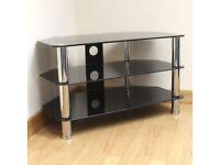 3 Tier Tv Glass Shelf, corner tv unit for sky box Xbox
